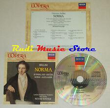 CD BELLINI Norma SUTHERLAND MINTON HORNE ALEXANDER grandi opera lp mc dvd