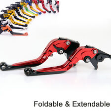 Folding&Extend Brake Clutch Levers For Yamaha MT-125 Euro version 2014-2015 red