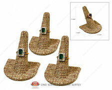 3Burlap Ring Finger Jewelry Displays Ring Displays Curve Base Jewelry Stand