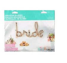 Party Supplies Wedding Engagement Rose Gold BRIDE Script 46 Inch Foil Balloon