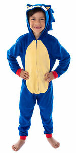 Sonic The Hedgehog Boys' Character Costume Union Suit Pajama Outfit