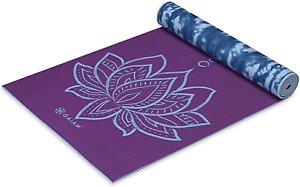 Gaiam Premium Reversible Yoga Exercise Mat, Non-Slip 5/6mm Lightweight Durable