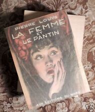 """Pierre Louÿs """"la Femme et le Pantin"""" ill. P. Swyncop, éd. du Nord Bruxelles 1936"""