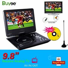 """New Buyee 9.8"""" Portable DVD Player DivX,Swivel, USB,SD,300 GAMES,Rechargeable"""
