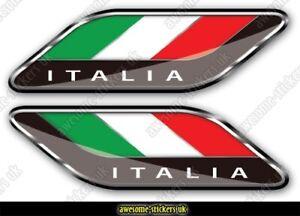 2 x ITALIAN flag stickers 023 Fiat 500 decals vinyl graphics Italia Punto Ducato