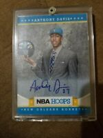 2011-12 Anthony Davis NBA Hoops Autographed Rookie Card Number 275-Lakers