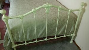 """King single bed frame antique white """"Claremont"""" cast iron wrought iron"""