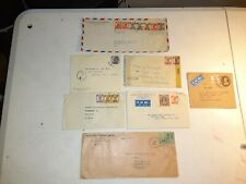 7 Old Rare India Airmail & Censored Stamps Covers to Us See Pics in Description!