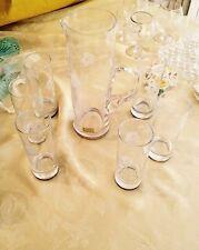 servizio argento 6 bicchieri di cristallo aperitivo collezione soprammobili