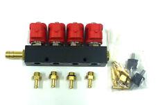 VALTEK TYPE 30 AUTOGAS LPG 4 CYLINDER INJECTORS RAIL OMVL ROMANO BI-GAS STAG