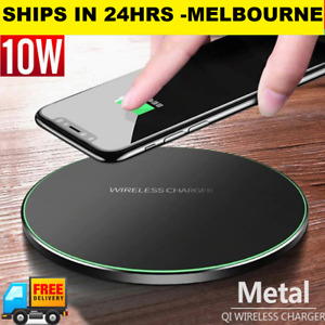 10W Wireless PHONE Charger Fast Charging Pad desk iPhone X XR 8 Samsung S10 S9