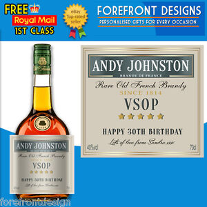 Personalised French Brandy label Perfect Birthday/wedding/graduation Gift