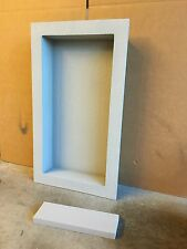 "PolyNiche Foam Shower Niche - EPS Waterproof 12"" X 24"" Shampoo Soap Shelf Tile"