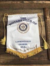 Vtg Rotary Club Flag / Pennant, Lawrenceville Georgia