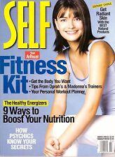 1998 Self Magazine Paulina Porizkova Francesco Scavullo Oprah & Madonna Trainers