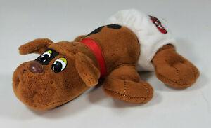 """Newborn Dark Brown Pound Puppies Plush 8"""" Dog With Diaper"""