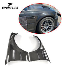 Fit For BMW E46 M3 2Door Exterior Side Fender Vents Cover 1998-2005 Carbon Fiber