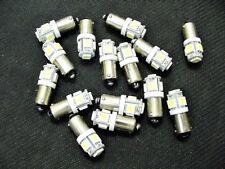 15 COOL White 5 LED Instrument Panel Dashboard Lights Bulbs BA9S 57 1895 AMC GMC