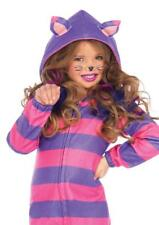 Girls Cozy Cat Cheshire Fleece Striped Dress Halloween Costume Uac49106 M