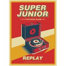 Super Junior-[Replay] 8th Repackage Album CD+Poster+Booklet+PhotoCard K-POP Seal