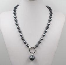 "June Pearl South Sea Baroque Black Shell Pearl Choker Necklace 20"""