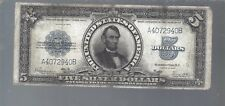 1923 $5 FIVE DOLLAR PORTHOLE NOTE   HARD TO FIND NT0110