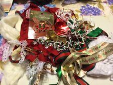 MIXED ASSORTMENT LACE TRIMS NEW RIBBON RICK RACK BINDING CHRISTMAS 1 LB. & BONUS