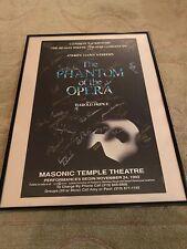 Phantom Of The Opera 1992 Masonic Temple Detroit Signed Poster
