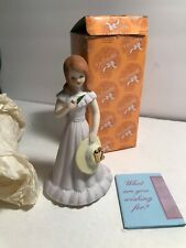 Age 12 Brunette Growing Up Birthday Girls Enesco ~ Vintage doll 1982 Mint Ob