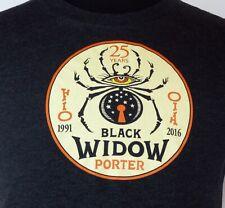McMenamins Black Widow Porter Charcoal Gray Spooky Beer Label T-Shirt S