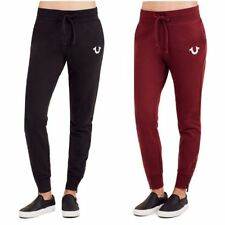 True Religion Women's Zippered Jogger Sweatpants