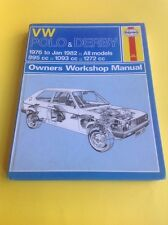 Haynes VW Polo & Derby 1976-1982 Workshop Manual Good Condition