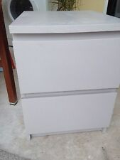 IKEA Modern Bedside Tables & Cabinets with 2 Drawers