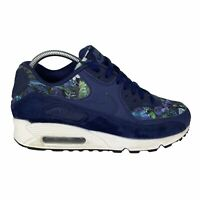 Nike Womens Sz 8.5 Air Max 90 SE Floral Binary Blue Low Top Lace Up 881105-400
