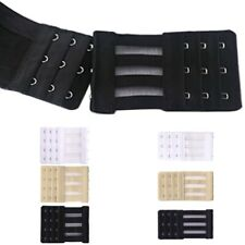 Women Bra Extender 3 Rows 3/4 Hook Corset Extension Strap Elastic Bra Buckle S/L