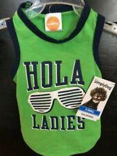 """New listing Nwt Simply Dog T Shirt Tank """" Hola Ladies"""" Sunglasses L & Xs Free Ship So Cute!"""