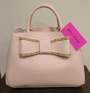 Betsey Johnson Blush Satchel Handbag
