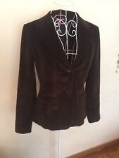 TOMMY HILFIGER woman's Sleek Dark Brown Corduroy Fitted Jacket Pre-owned