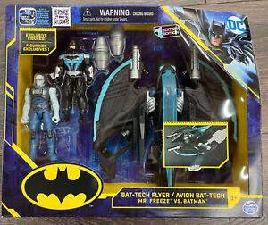 Batman Vs Mr. Freeze With New Bat-Tech Flyer Playset Spin Master DC Wave 1st Ed.