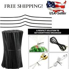 1000 pcs Plastic Coated Twist Ties Wire Cable Ties Reusable Nose Bridge Strips