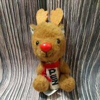 PEZ Dispenser Rudolph Reindeer Plush Key Ring Deer Christmas Holiday Nostalgia