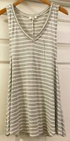 NEW Umgee from Stitch Fix Womens Sleevless Gray White Shirt Top size Small