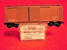 KD 23000 (Blue Label) DIMENSIONAL DATA 40' DD Box Car  MINT N-SCALE