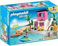 Playmobil City Life luxury beach house 5636 retired 100 Pc Playset