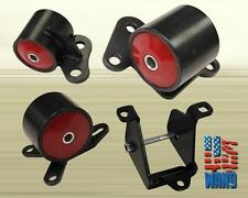 Black Red Solid Engine Motor Mount Conversion swap kit 96-00 Civic EK B-series