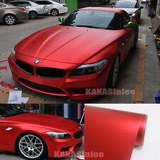 50FT x 5FT - Whole Car Wrap Metallic Satin Matte Chrome Vinyl Sticker Red CF
