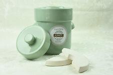 Pot à choucroute en grès pour la lactofermentation 3 litres grün vert pastel
