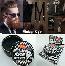 Pomade Man Vintage Hair Styling Strong Hold Lolane Head up Smart Pompadour Slick