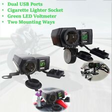 Dual USB Charger Cigarette Lighter For Yamaha XJ FJ FJR 600 900 1100 1200 1300
