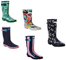 WOMENS LADIES FESTIVAL LONG WELLIES WATERPROOF SNOW RAIN WELLINGTON BOOTS SHOES